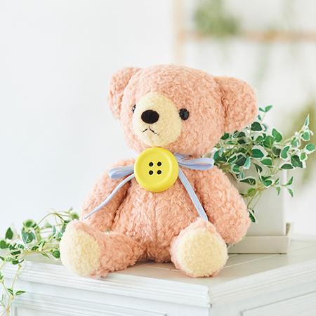 【日本製】クマのフカフカ(M)ローズ(ペチャット付)