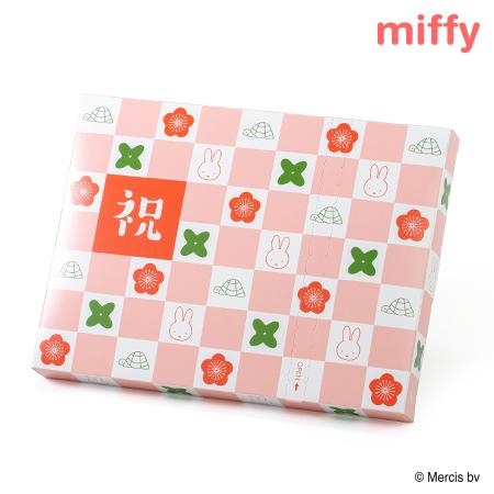 ミッフィーHAPPYBOX電報 市松