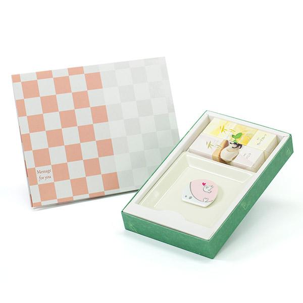 【松栄堂】お香セット(スウィート)+ハート電報ICHIMATSU
