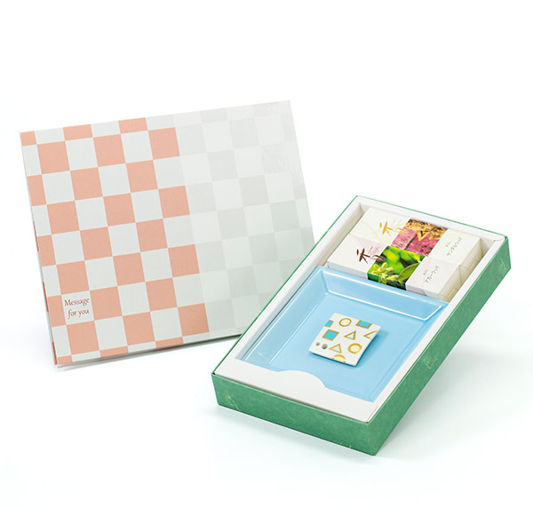 【松栄堂】お香セット(オリエンタル)+ハート電報ICHIMATSU