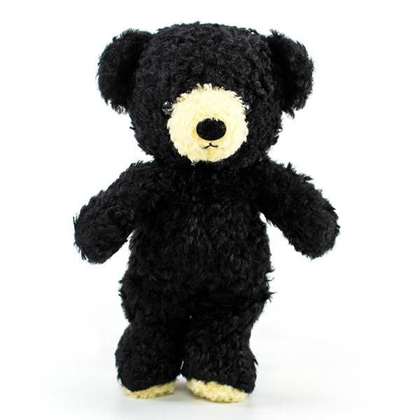 【日本製】クマのフカフカ(S)ブラック+ドキドキHAPPYBOX電報
