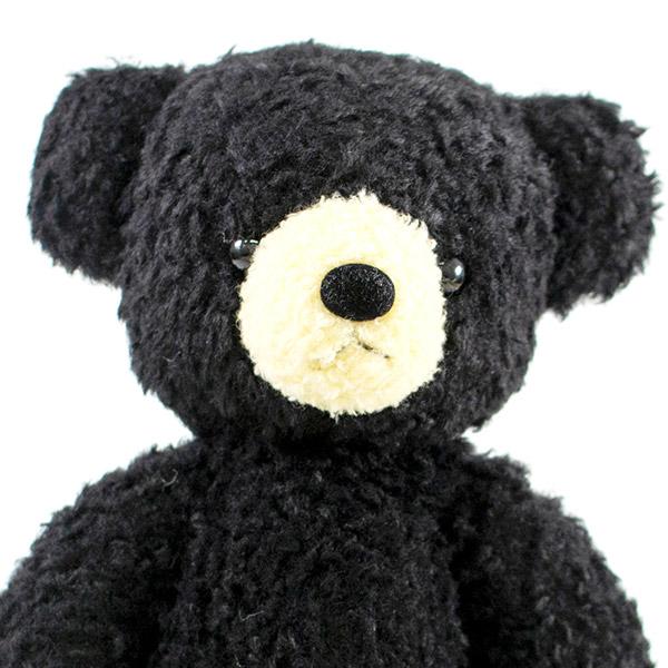 【日本製】クマのフカフカ(M)ブラック+ドキドキHAPPYBOX電報