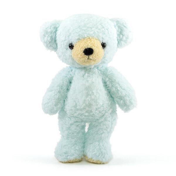 【日本製】クマのフカフカ(M)ユニコーン ブルー+ドキドキHAPPYBOX電報