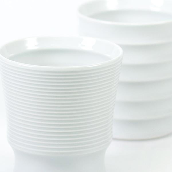 波佐見焼 ペアワビカップ(ボーダー・レインボー)+ハート電報 ICHIMATSU