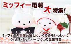 ミッフィーぬいぐるみ電報大特集!